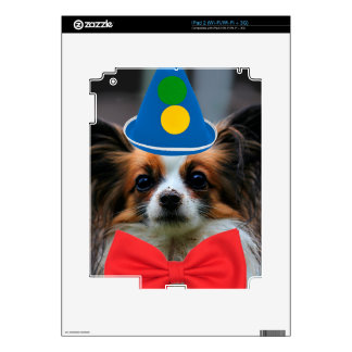 Papillon Puppy Dressed as a Clown Decal For The iPad 2