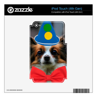 Papillon Puppy Dressed as a Clown iPod Touch 4G Skin