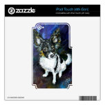 Papillon puppy iPod touch 4G decals