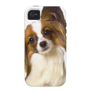 Papillon puppy Isolated on editable Background Pil iPhone 4 Case