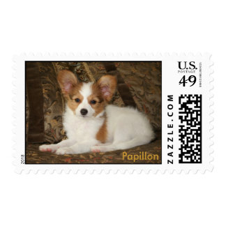 Papillon Puppy Stamp