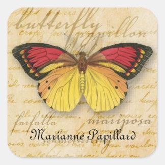 Papillon redacta al pegatina