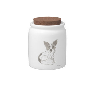 Papillon Sketch Candy Jar