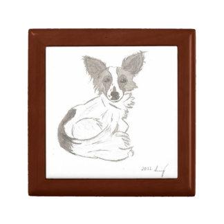 Papillon Sketch Keepsake Box