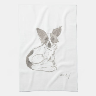 Papillon Sketch Kitchen Towel