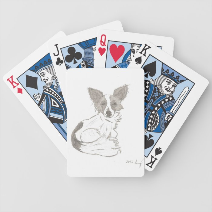Papillon Sketch Playing Cards