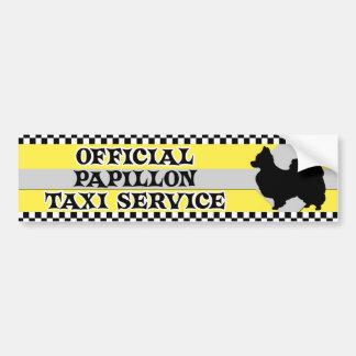 Papillon Taxi Service Bumper Sticker Car Bumper Sticker