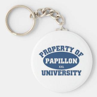 Papillon University Keychain