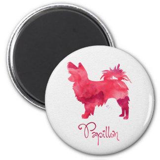Papillon Watercolor Design Magnet