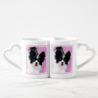 Papillon (White and Black) Coffee Mug Set