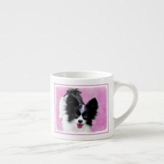 Papillon (White and Black) Espresso Cup