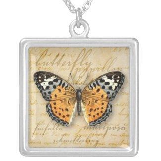 Papillon Words Necklace necklace