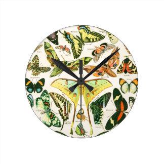 Papillons Reloj De Pared