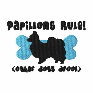 Papillons Rule Embroidered Shirt (Zip Hoodie)