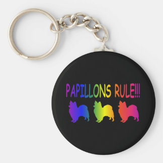 Papillons Rule Keychain