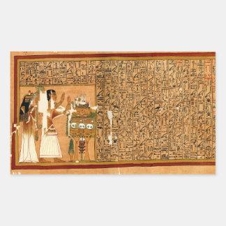 Papiro del Ani - libro de los muertos Rectangular Pegatina