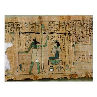 Papiro funerario de Djedkhonsouefankh Tarjetas Postales