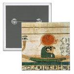 Papiro funerario egipcio pin cuadrado