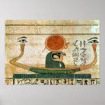 Papiro funerario egipcio póster