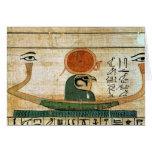 Papiro funerario egipcio tarjeta de felicitación