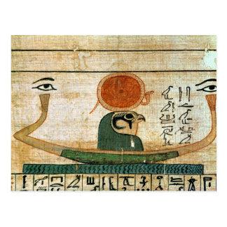 Papiro funerario egipcio tarjeta postal