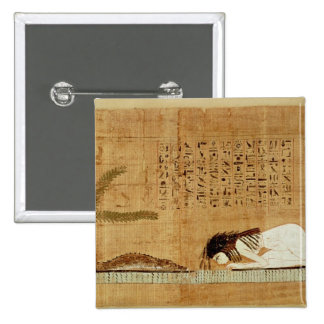 Papiro funerario que representa pins