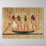 Papiro que representa a un hombre póster