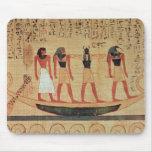 Papiro que representa a un hombre tapetes de ratones