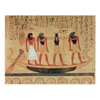 Papiro que representa a un hombre tarjeta postal