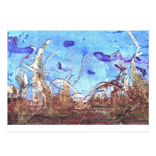 Papiro y el cielo del mediodía postal