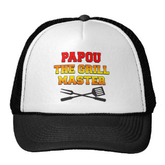 Papou The Grill Master Trucker Hat