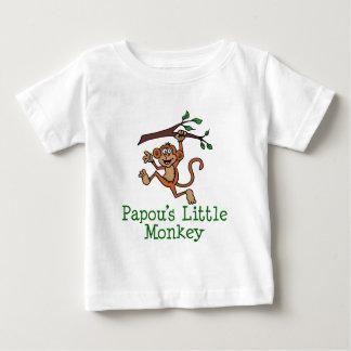 Papou's Little Monkey Baby T-Shirt
