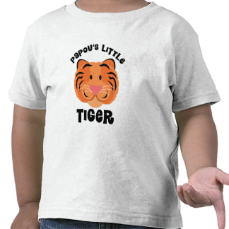 Papous Little Tiger Cute Gift Tee Shirt