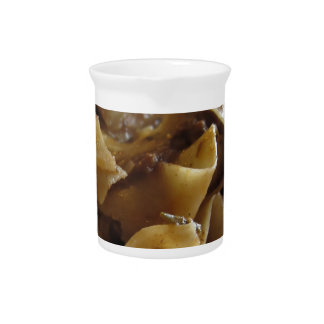 Pappardelle with boar ragu beverage pitchers