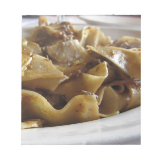 Pappardelle with boar ragu notepad