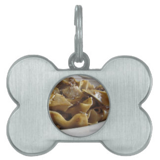 Pappardelle with boar ragu pet tag