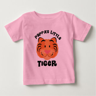 Pappas Little Tiger Cute Gift Baby T-Shirt
