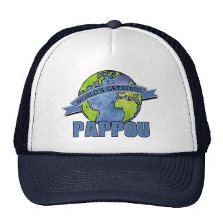 Pappou más grande del mundo gorros bordados