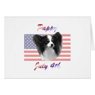 Pappy 4 de julio tarjeta de felicitación