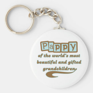 Pappy de nietos dotados llavero redondo tipo pin