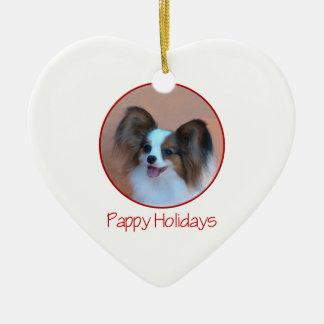 Pappy Holidays (2) Ceramic Ornament