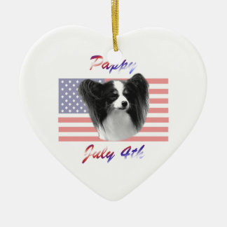Pappy July 4th Ceramic Ornament