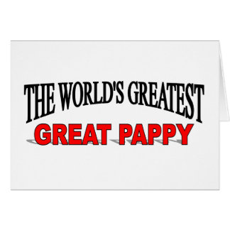 Pappy más grande del mundo el gran tarjeta de felicitación