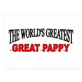 Pappy más grande del mundo el gran tarjeta postal
