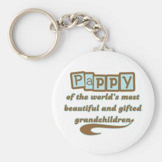Pappy of Gifted Grandchildren Keychain