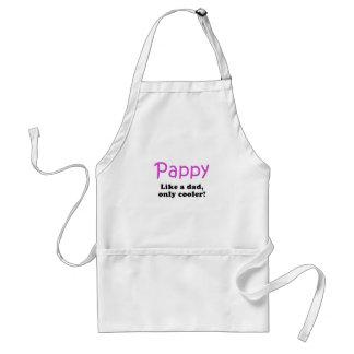Pappy tiene gusto de un papá solamente más fresco delantal