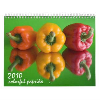 paprika colorida calendario de pared