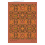 Paprika Mood Patterned Note Card