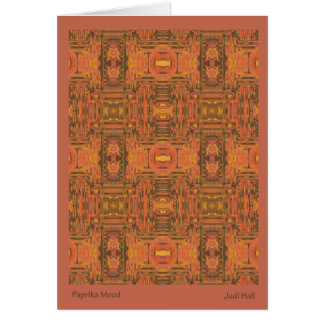 Paprika Mood Patterned Note Card