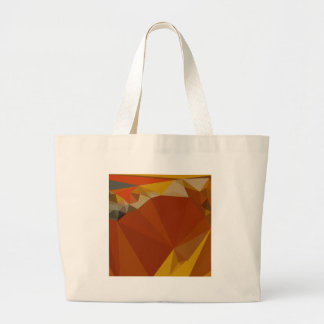 Paprika Orange Red Abstract Low Polygon Background Large Tote Bag